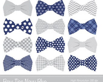 Bow Ties Clipart, Bowtie Clip art, Navy Blue,  Grey,  Personal & Commercial Use, only FOR PERSONAL USE