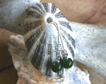 Illinois earrings, jade earrings, dangle earrings, jade jewelry, green earrings, green jewelry, green jade, green jewelry, modern jewelry