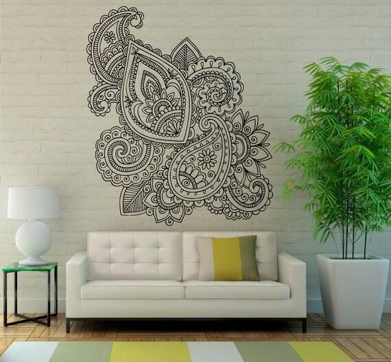 Mehndi Wall Vinyl Decal Mandala Lotus Stickers Art Design