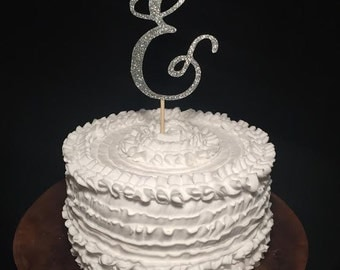 "Wedding Cake Topper Ampersand ""&"""