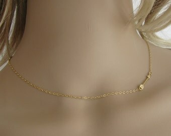 Gold necklace, arrow necklace, delicate necklace, wedding, dainty necklace, simple necklace, every day necklace, gold filled necklace