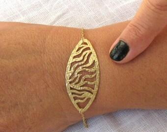 Gold bracelet, delicate bracelet, brushed gold bracelet, jewelry bracelet, dainty gold bracelet, friendship bracelet, chain bracelet
