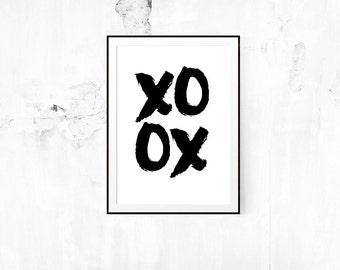 Kiss, Hug, Hug, Kiss Print // Print, XO, Wedding, Valentines, Love, Motivational, Inspirational, Prints, Wall Decor, Wedding Invitation