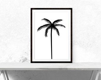 Palm Tree Print // Minimalist, Palmtree, Motivational Print, Inspirational, Art, Wall Decor, Home Decor, Scandinavian, Scandi, Design