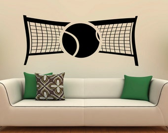 Tennis Club Wall Decal Vinyl Stickers Racquet Sport Home