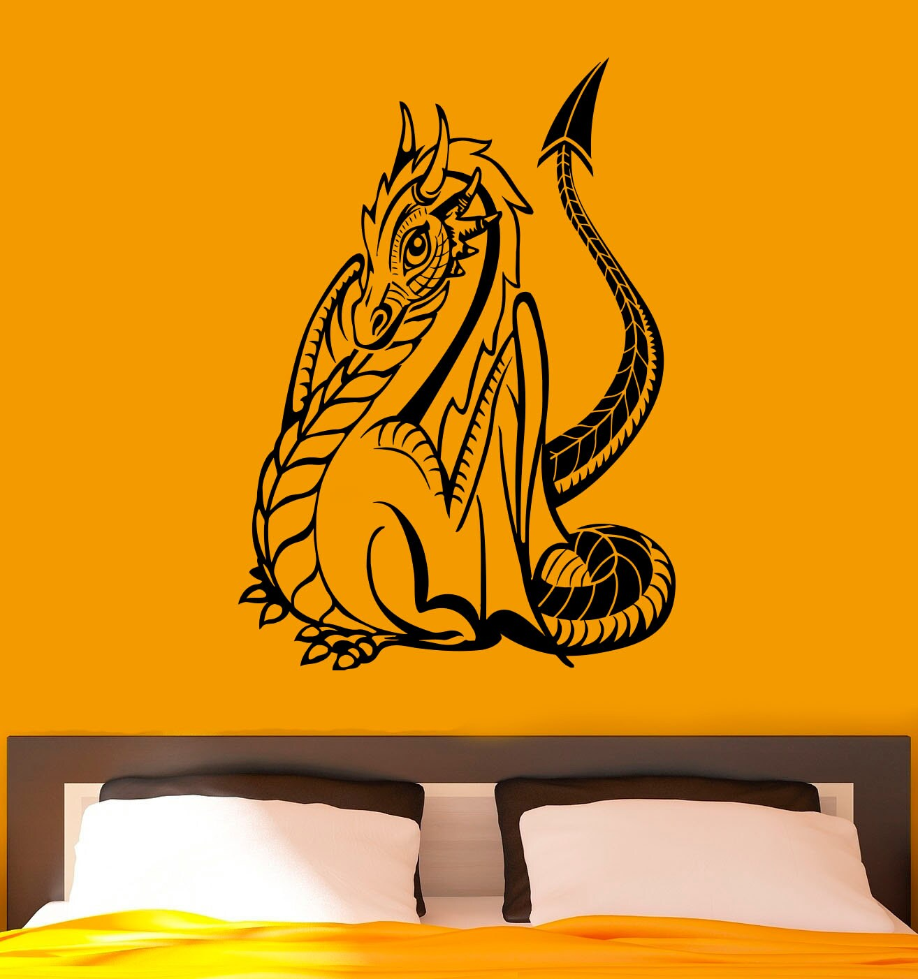 Hakuna Matata Wall Stickers Dragon Wall Decal Vinyl Stickers Gothic Style Fantasy Home