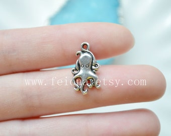 Silvery octopus cartilage barbell Upper Ear Ring piercing ,octopus barbell cartilage Earring Tragus Helix Piercing ,Cartilage jewelry