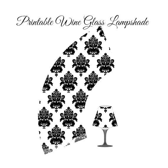 articoli simili a lampada di vetro, bicchiere di vino paralume di ... - Paralume Con Bicchieri Di Carta