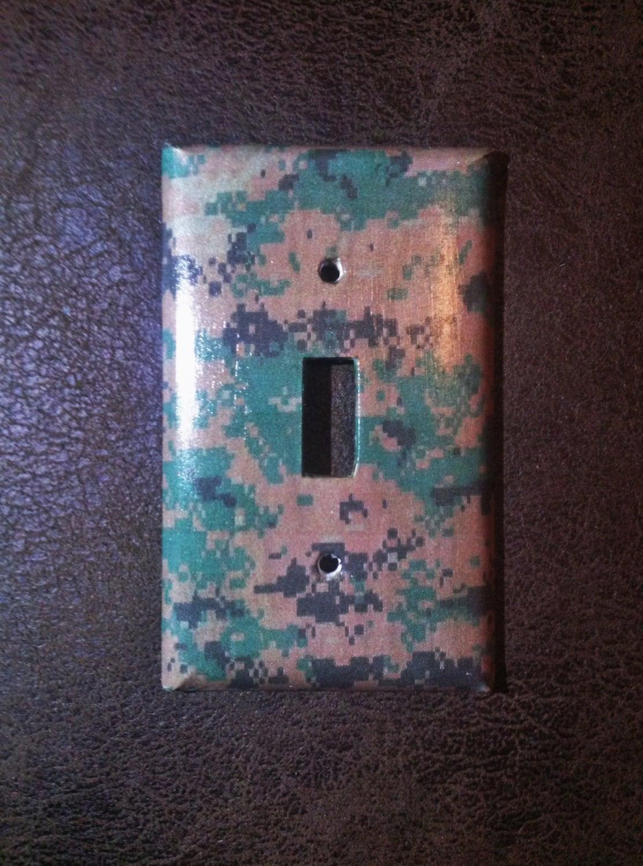 USMC Decor USMC Light Switch Cover Marines Decor Digital