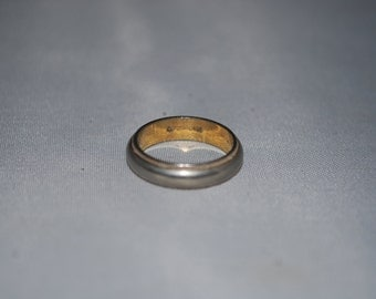 Sterling silver and gold ring size 4.75