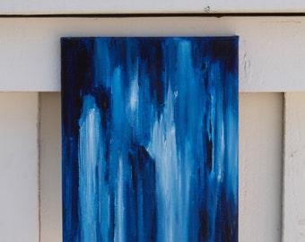 Frosty Rain - Original Abstract Acrylic Painting