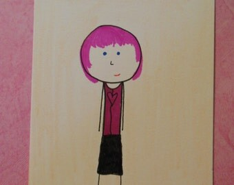 """ATC """"Lizzy"""" ACEO Artist Trading Card"""