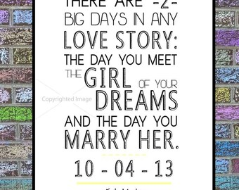 """HIMYM Print: Ted Mosby """"Love Story"""" Quote"""