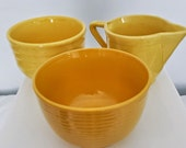 Lot of Vintage Yellow Pottery