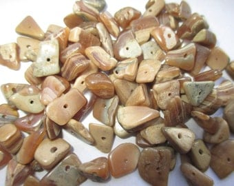 Genuine Tumbled Agate Drilled Chunks 20pc. Bag. Item:BC818478