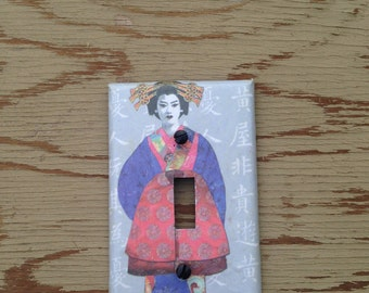 Geisha Girl Lightswitch Plate