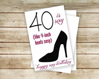 40th birthday card etsy 40th birthday card printable 40th 50th 60th 40 is sexy happy bookmarktalkfo Image collections