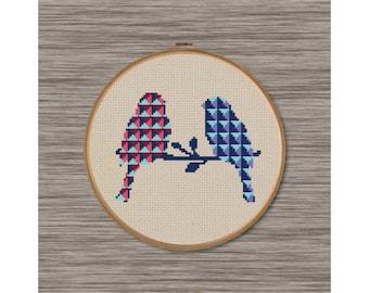 Bird Couple - PDF Cross Stitch Pattern
