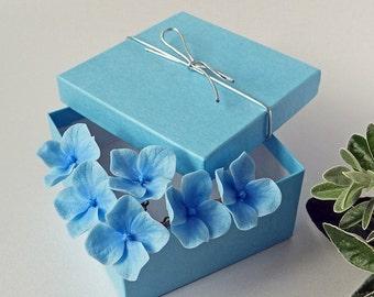 Blue Hydrangea pins ( set of 6 ) - Weddings, Hair accessories, Hair pins, Hair Jewellery, hydrangea hair clip, NOT FRAGILE!