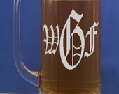 Personalized Beer Mug-Engraved Beer Mug-Free Engraving-Groomsmen Gifts-Wedding Party Gift-Beer Stein-Pint Glasses-16 OZ Glass Beer Mug