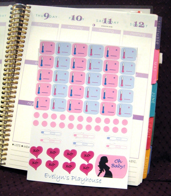 Fertility / Ovulation Stickers - Erin Condren Planner