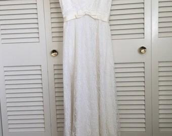 Vintage Lace Wedding Dress by Emma Domb