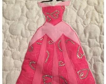 Disney Princess Aurora Dress Applique Pattern - Inspired by Disney's Sleeping Beauty