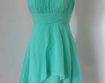 Strapless Chiffon Short Bridesmaid Dress
