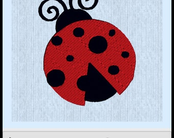 Lady Bug Embroidery File 4x4