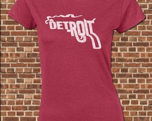 DETROIT women's junior fit T-Shirt all sizes available smoking gun city state of michigan vintage tee UG241