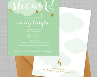 Customizable Peter Pan Baby Shower Invitations - Download