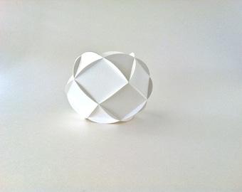 SVG: Garnet luminaria, mod midcentury lamp, LED tealight lantern, 3D paper cutting file