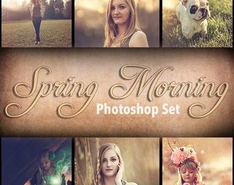 Spring morning - Photoshop action set