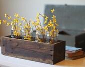 "20"" Rustic Farm Planters Box (Tall Version), Shabby Chic Box, Wooden Box, Primitive Box, Garden Box, Storage Box, Herb Box, Succulent Box"