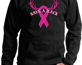 Breast Cancer Awareness Men's Hoodie Save a Rack Hoody RACK-PC90H