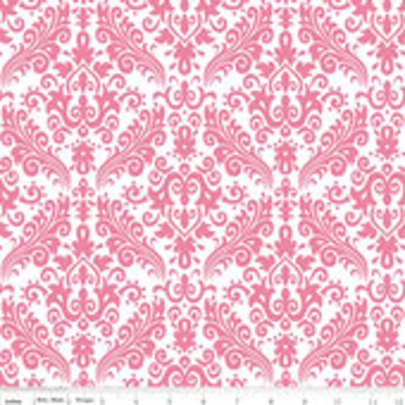 Damask Basics Riley Blake C820-70 Hot Pink Hollywood 1/2 yard to 3/4 yard