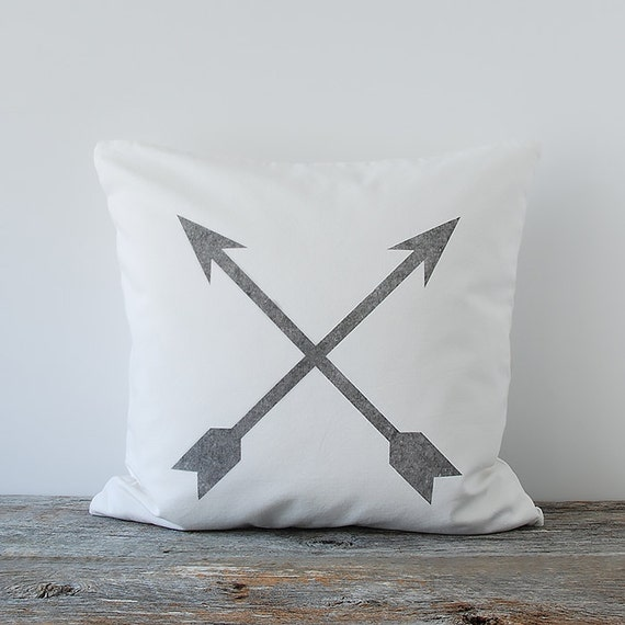 Crossed Arrows Decorative Throw Pillow Cover Arrows by WhiteBrix