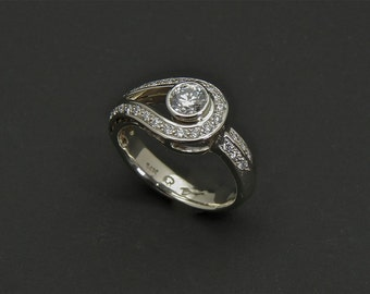 Canadian Diamond ring, diamond engagement ring, gold diamond ring, wedding diamond ring, ethical diamond ring, engagement diamond ring, pavé