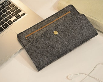"Custom Made Felt iPad Air 2 Sleeve , 9.7"" iPad Pro Felt , 12.9"" iPad Pro Felt , iPad Air 2 Case Felt , iPad Air Case , iPad Air Cover  #229"