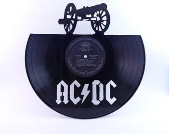 AC/DC Vinyl Record Silhouette Wall Art Cutout