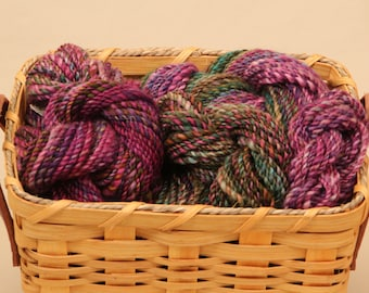 Hand Spun Yarn BFL 272 Yards Worsted Weight