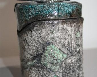 Ceramic raku pot