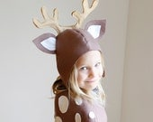 Reindeer PATTERN DIY christmas costume mask sewing tutorial creative play woodland animals ideas kids baby children holiday Halloween gift
