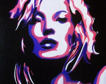 Kate Moss Pop-Art Acrylic Painting Print...x