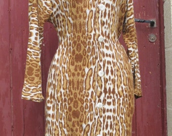SALE Super Leopard Vintage  Dress