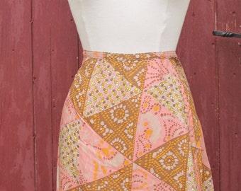 1970s Crazy Paisley Vintage Skirt