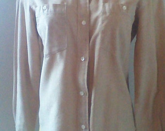 Gloria Vanderbilt Awesome 80's Swan Button Down Blouse, Rodeo Western Blouse