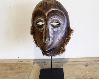 Antique Carved Wood Mask, Lega People (Warega) Ivory Coast, African Mask - Tribal Art