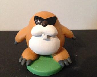 Monty Mole Figure Inspired by Super Mario Bros