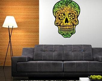 Sugar Skull Dia de los Muertos Mexico Wall Decal